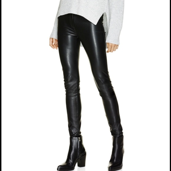 Wilfred Pants - Aritizia Wilfred Rebelle Faux Leather Leggings M